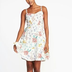 Cami Dress Pink / white Floral Old Navy